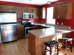 red kitchen walls with light oak cabinets smith design 1 u2013 moute