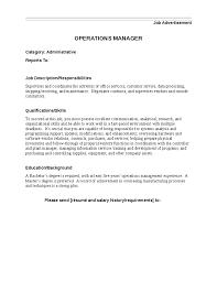 Construction Laborer Job Description Resume by It Operation Manager Job Description Operations Manager Job