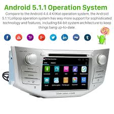 toyota harrier 2005 quad core android 5 1 1 in dash dvd gps system for 2004 2012