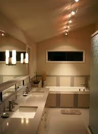 bathroom track lighting fixtures over brown mirror images 19