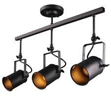 Black Track Lighting Fixtures by Laluz Adjustable Track Lighting Ceiling Light 3 Light Spotlight