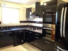 cuisine equipé cuisine équipée noir laquée en photo