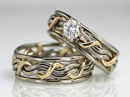 cool wedding rings images Unique wedding rings for him and her cool wedding bands unique jpg