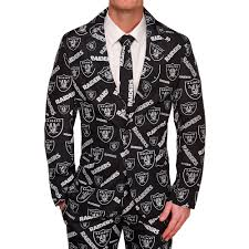 oakland raiders nfl repeat logo business suit by forever