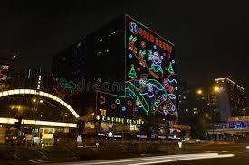 Christmas Decorations For Commercial Buildings by Christmas Decorations In Hong Kong Editorial Image Image 35206080
