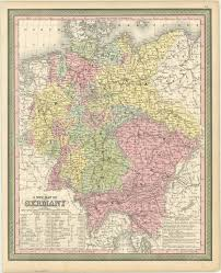 geographical map of germany germany 1850 american geographical society library digital map