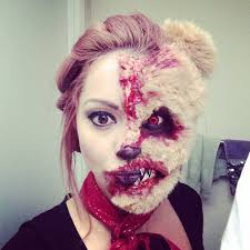 pictures of scary halloween makeup evil teddy bear tutorial halloween scare fx moments makeup