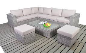 Rattan Table L Bonsoni Rattan Garden Large Corner Sofa Is Made Up From Three