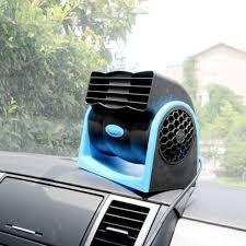plug in car fan 12v mini portable rotating cigarette lighter plug vehicle fan air