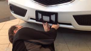 how to install a front license plate bracket on a 2015 acura rdx