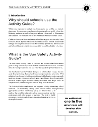 the sun safety activity guide 1st 5th grade lesson plan lesson