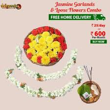 buy flowers online buy pooja flowers combo online rs 25 free home delivery daily