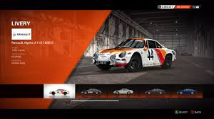 renault alpine a110 renault alpine a110 1600 s colin mcrae rally and dirt wiki