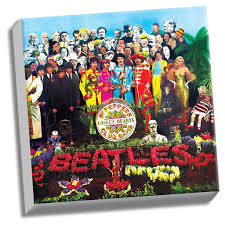 sargeant peppers album cover sgt pepper lonely hearts club band canvas the beatles