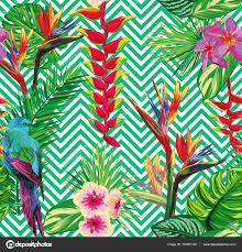beautiful seamless tropical jungle floral pattern background with