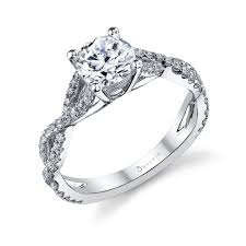 infinity engagement rings sylvie infinity shank prong set engagement ring