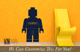 brick minifig figure custom name a wall decor vinyl decal
