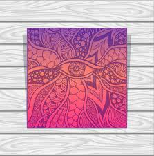 eye pattern clothes template zen doodle or zen tangle texture or pattern with eye in
