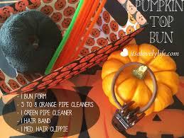 halloween hair style pumpkin top bun u2013 it u0027s a lovely life