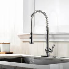 Spring Kitchen Faucet by Pre Rinse Kitchen Faucets Refin Oversized Heavy Duty Spring