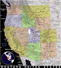 Map Of Western Washington by Western United States Public Domain Maps By Pat The Free Open