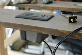 make it diy sofa table with outlets man made diy crafts for