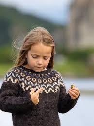 knitting kit child s patterned yoke sweater kit by