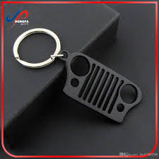 jeep grill logo 2018 travel kit car key chain stainless steel keychain key ring