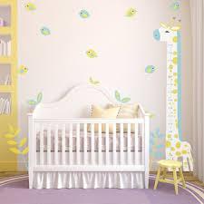 toise chambre bébé stickers toise girafe bleue chambre d enfant chez deco minus