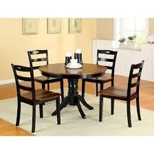 furniture kitchen table set sun pine 5pcs brighton dining table set wood galaxy black