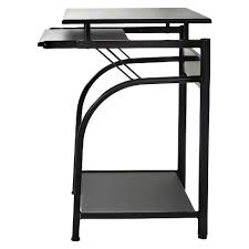 Computer Desks With Keyboard Tray Stanton Computer Desk With Pullout Keyboard Tray Black Comfort