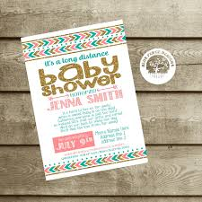 Virtual Baby Shower Invitations Long Distance Baby Shower Shower Invite Military Baby