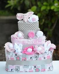 diper cake don t miss this bargain girl elephant cake pink gray