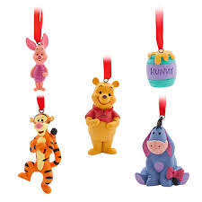 winnie the pooh hanging ornaments set of 5