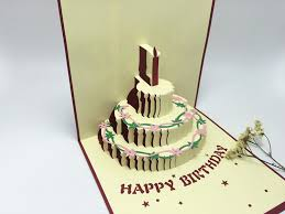 gift cards for women creative birthday present 3 d birthday cake card men and women