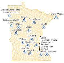 Map Of Fargo Bicycle Friendly Community Bicycle Alliance Of Minnesota