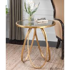 Oval Accent Table Golden Stretched Ovals Round Accent Table
