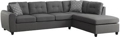 Coaster Sectional Sofa Coaster 500413 Stonenesse Series Convertible Fabric Sofa