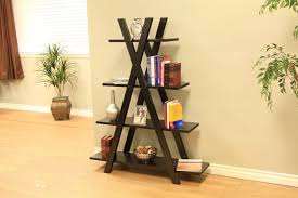 Wooden Ladder Bookshelf Plans by Wooden Ladder Bookcase With Rustic Style Design Ideas Nytexas