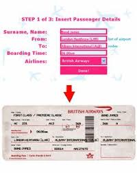 use this template to make fake airplane tickets to play
