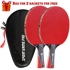 best table tennis paddle for intermediate player amazon com sport game pro ping pong paddles set includes killer
