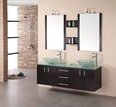 Glass Bathroom Sinks And Vanities 61 Modena Sink Vanity Set W Glass Vessel Sinks Dec005