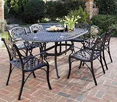 Outdoor Furniture Finish by Amazon Com Home Styles 5554 338 Biscayne 7 Piece Outdoor Dining