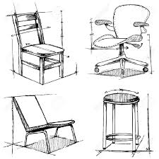 Interior Design Furniture Sketches Chairs Drawings Royalty Free Cliparts Vectors And Stock