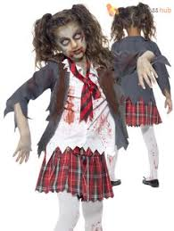 Zombie Halloween Costumes Boys Goth Prom Queen Child Costume Zombie Cheerleader Children