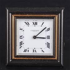 mechanical desk clock vintage cartier mechanical desk clock the square enameled dial