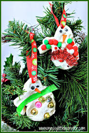 snowman christmas tree decorations messy little monster