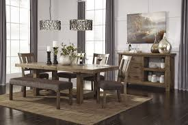 dining room kitchen table bench ashley dining table round