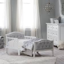 Orbelle Mini Crib by Orbelle Upholstered Toddler Bed Gray French White Walmart Com