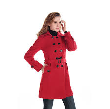 fashion women wool blends winter trench coat outerwear quickly